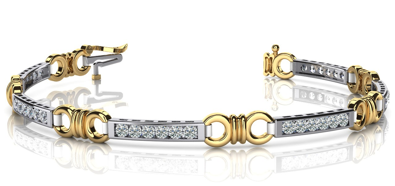 B12 Diamond and bar bracelet