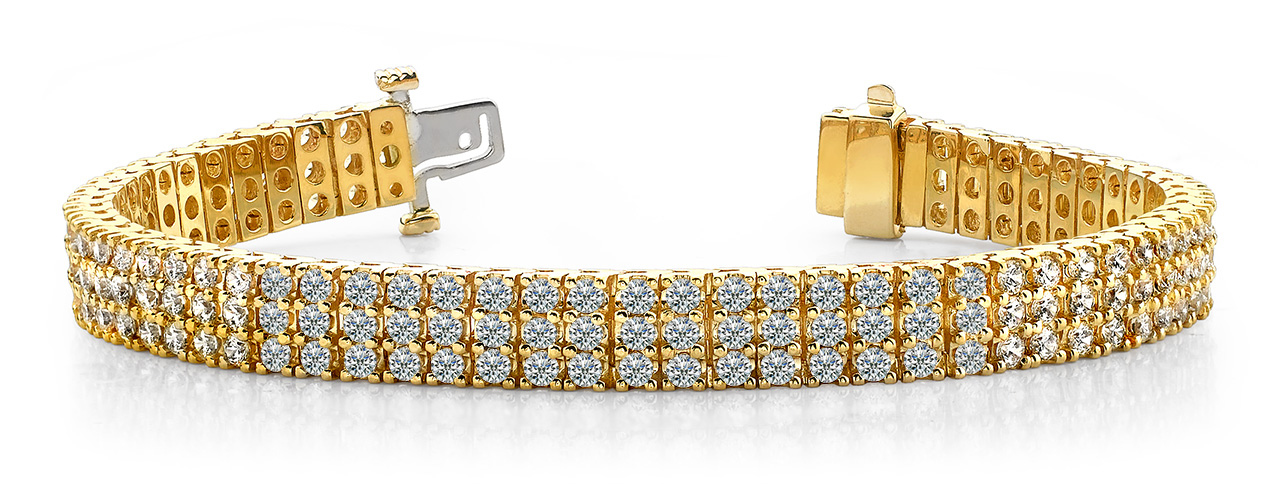Aaron & Son Wholesale Mountings B127 3 Row Diamond Bracelet
