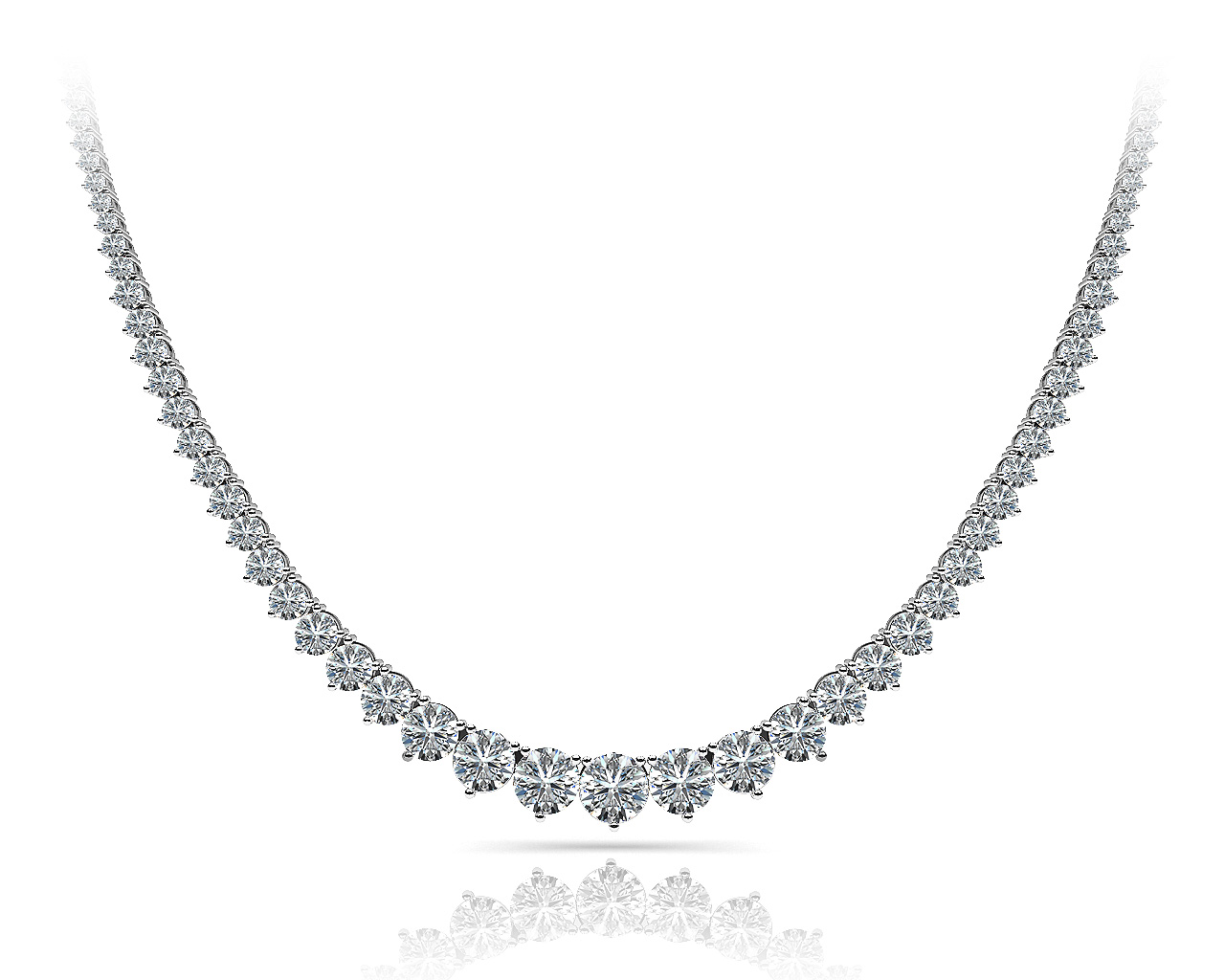 N370 Three prong diamond mounting necklace